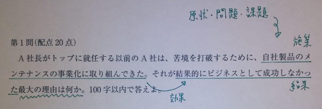 令和元年 事例I 第1問
